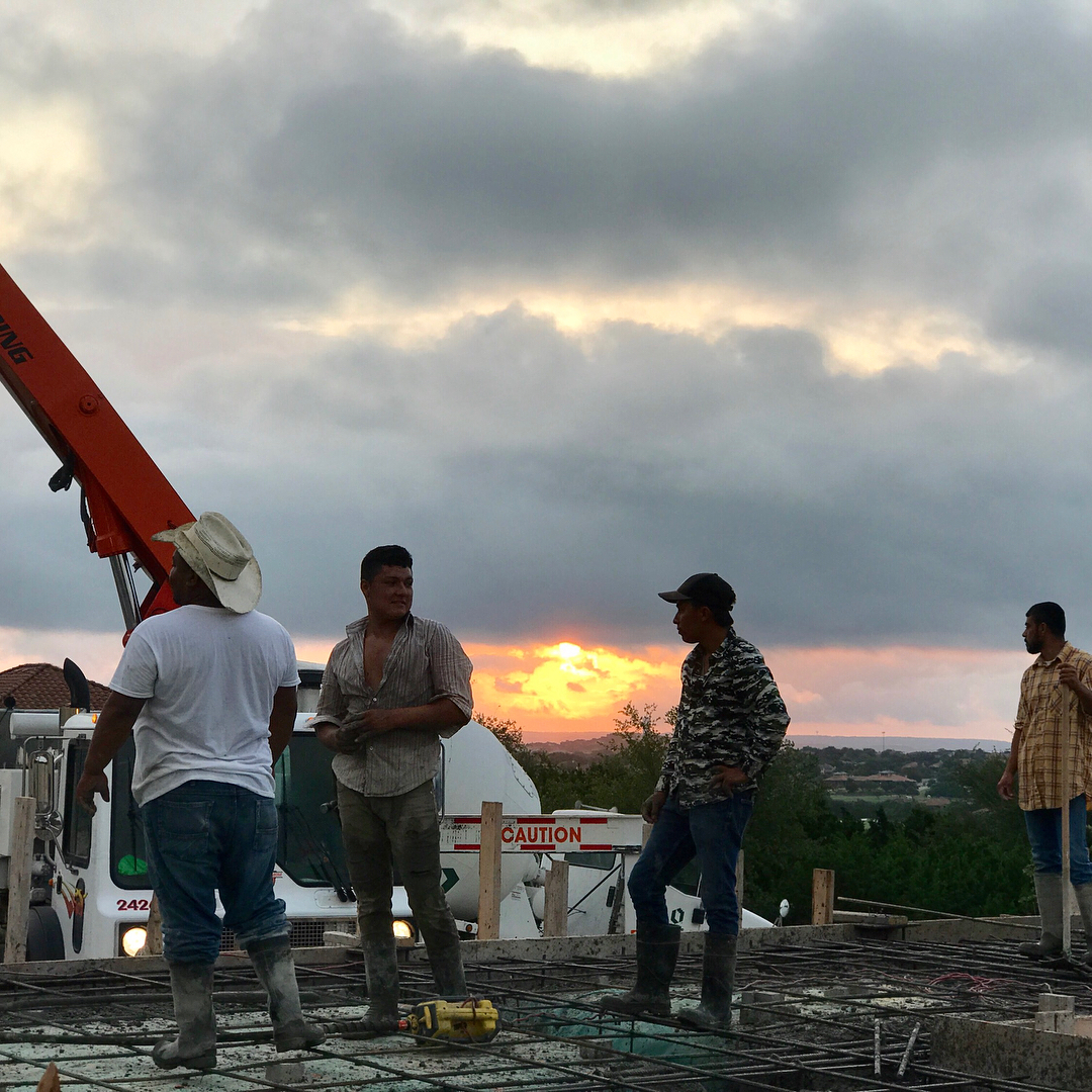 Early morning dedication starts at 4:45 a.m. to pour concrete. Built by @foursquarebuilders Design by Photos by @michelle.e.wigginton