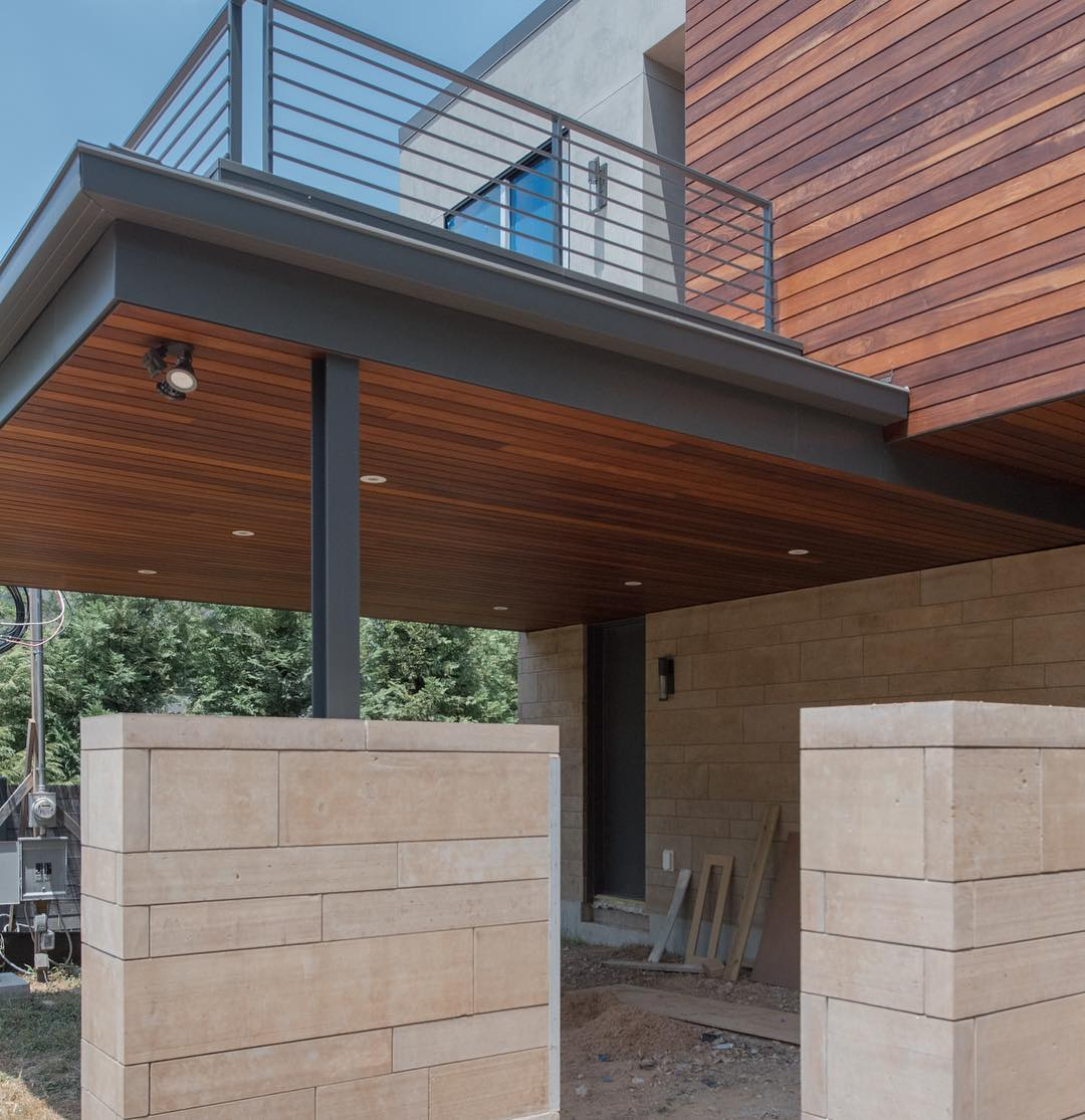 Carport about complete on our Castle Hill home. Designed by @dc_architecture Built by @foursquarebuilders Photo by @redpantsstudio