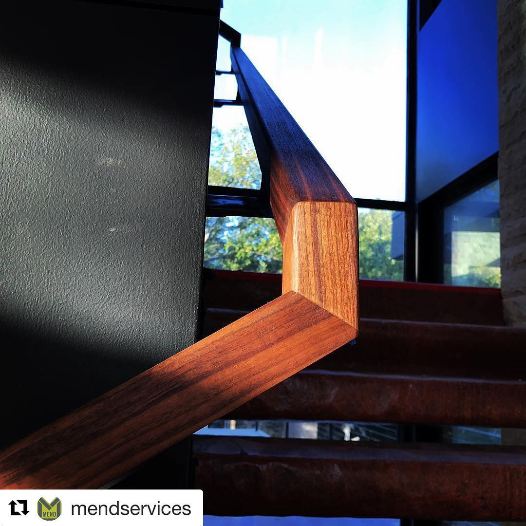 Mend knocked it out of the park on our walnut handrail.