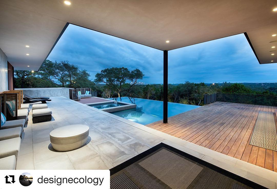 Wow! What a great photo of one of our homes. Thanks @designecology for a beautiful pool. Built by @foursquarebuilders