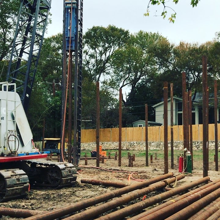 How we build foundations in really bad soil. Pilings are the most efficient way of dealing with the problem. 80+ pilings for this New Home. Built by @foursquarebuilders Designed by