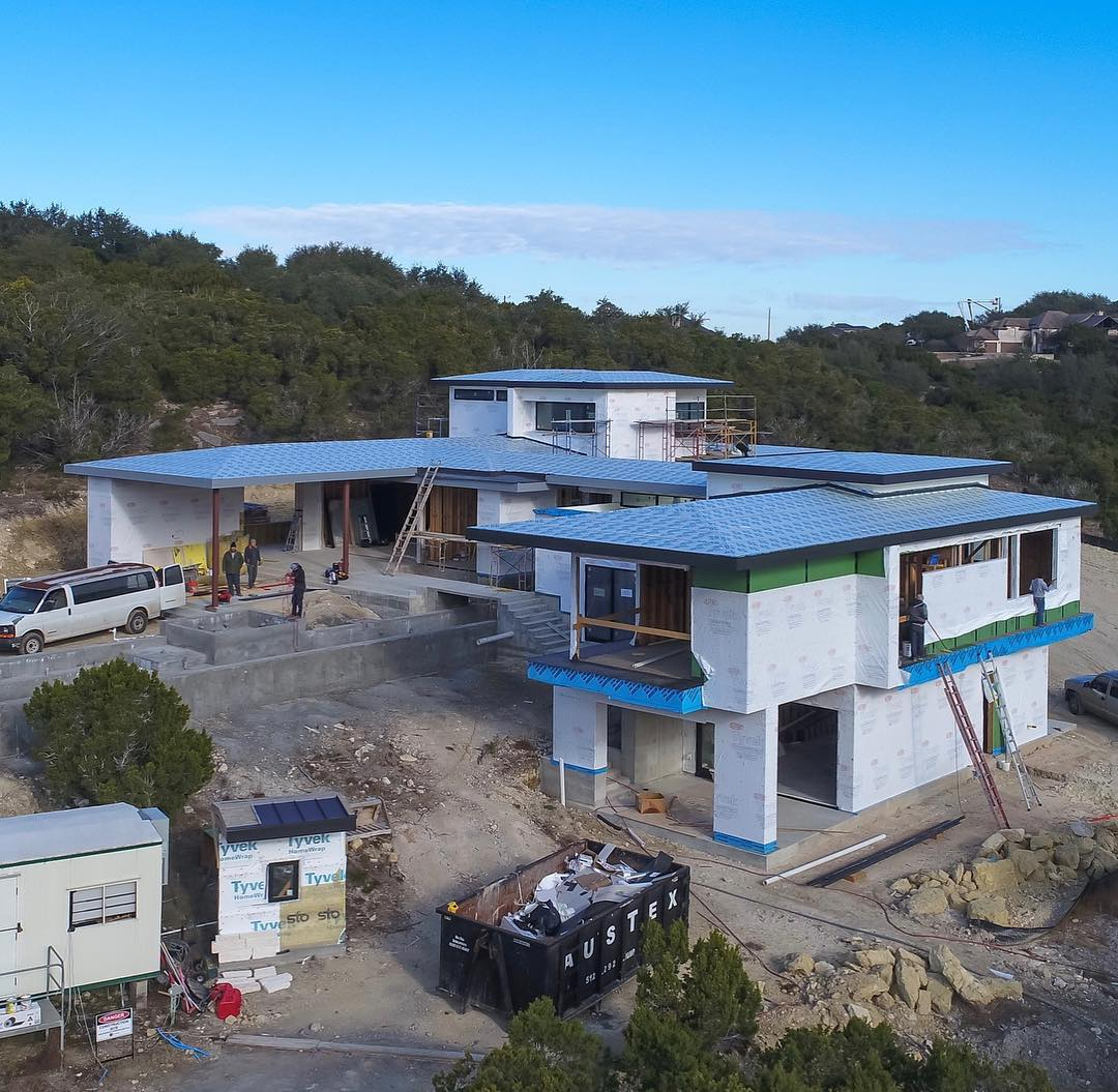 And the other side! Built by @foursquarebuilders Designed by @lankerani_architecture Drone by @redpantsstudio