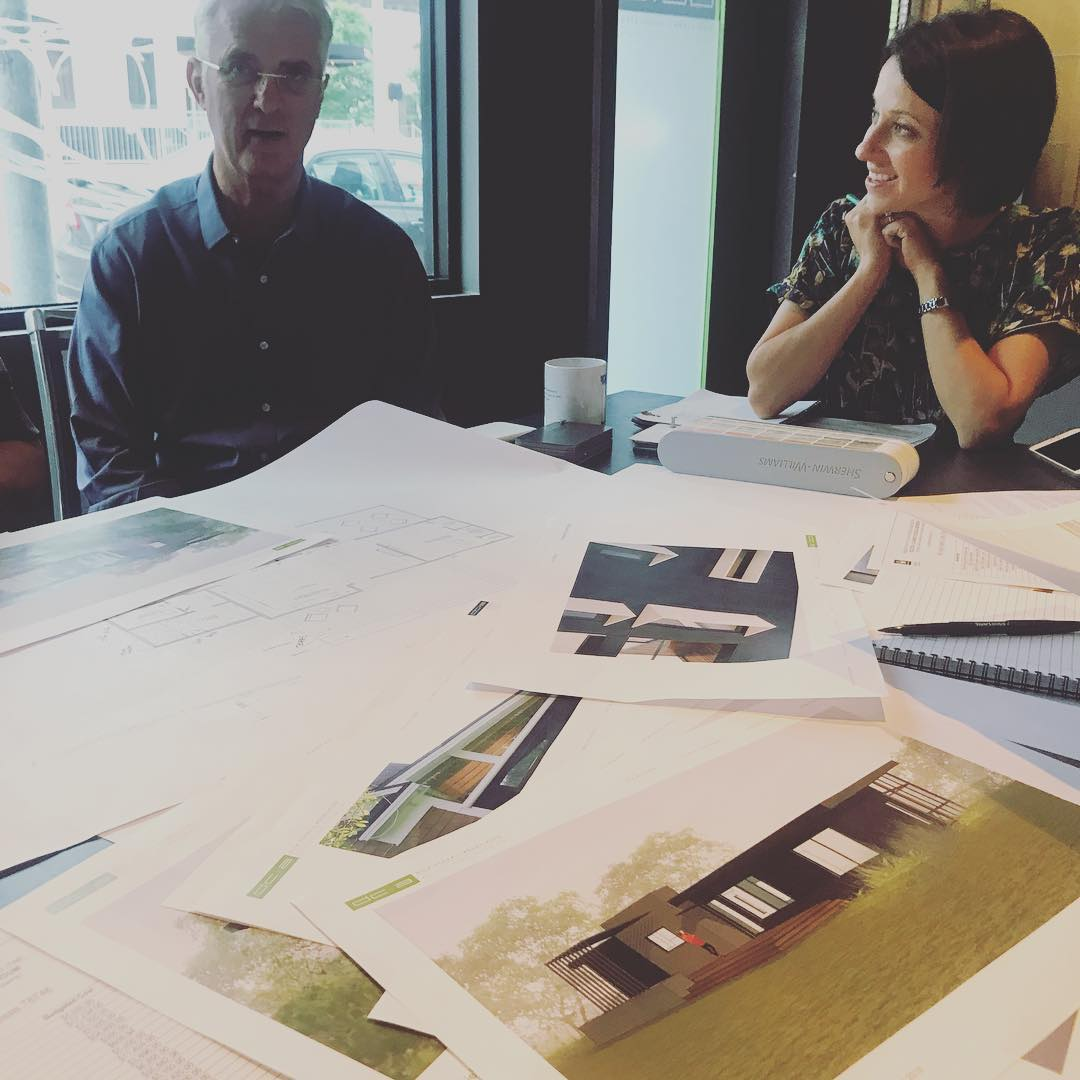 Foursquare Builders and Dick Clark Architecture collaborating on another custom home for our clients.