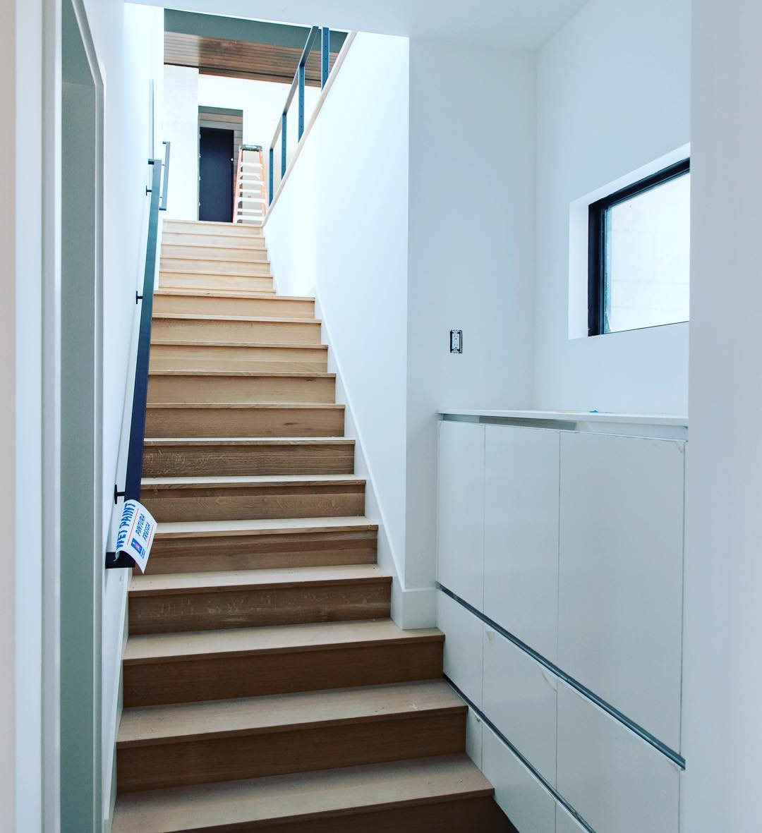 In other parts of the world they would call this basement access. In Texas it's our clients stairway to possibilities!
