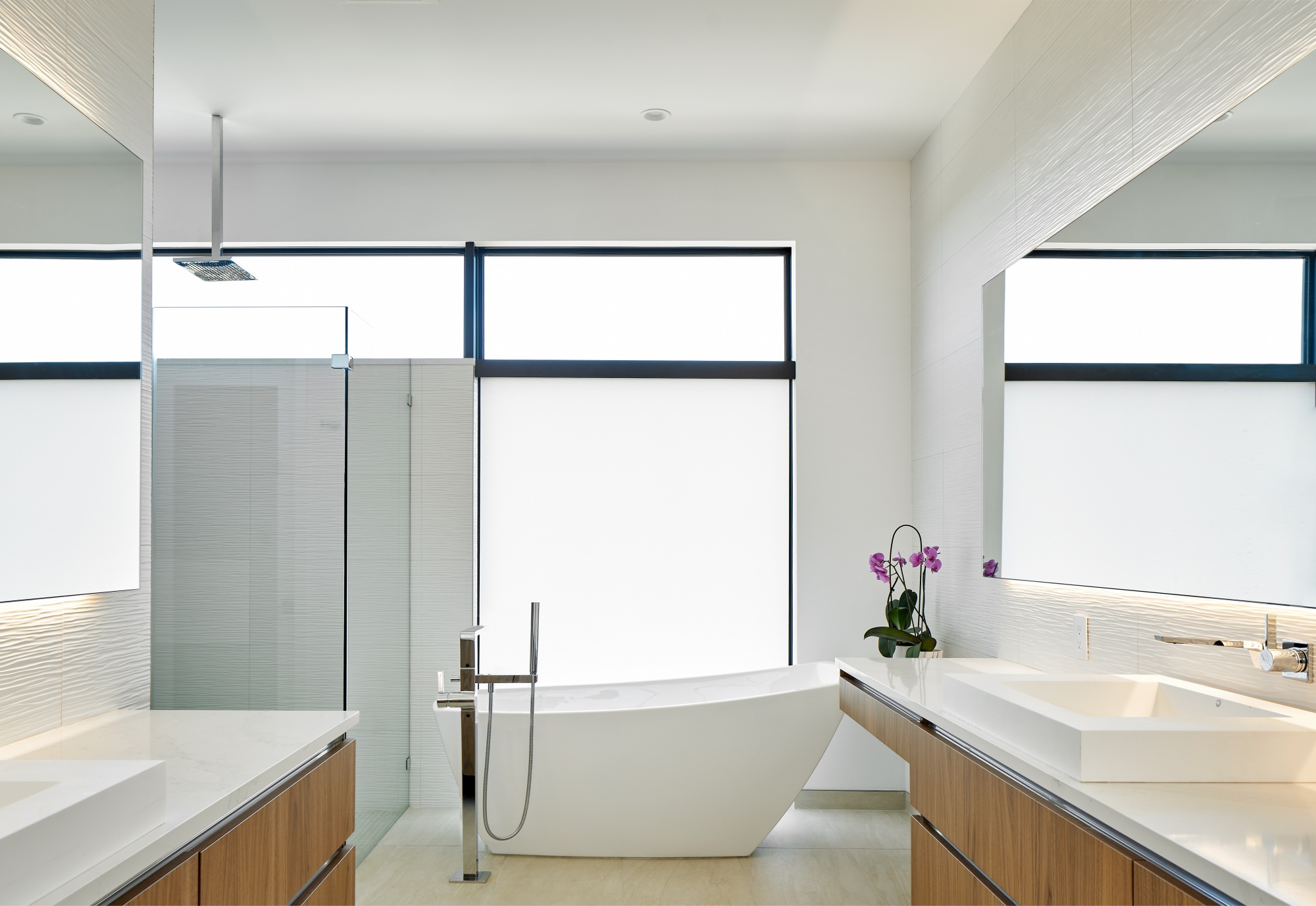 A master bath that provides a quiet and serene environment.