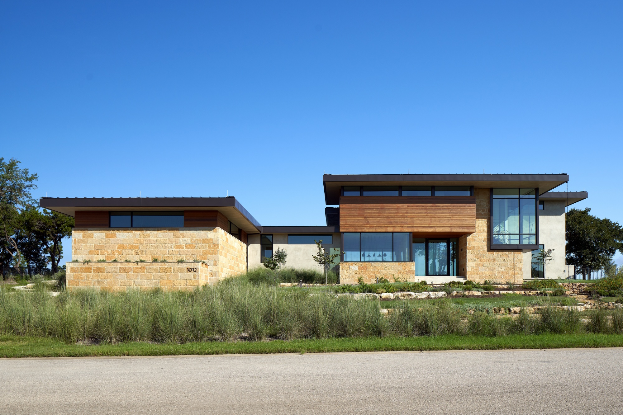 Hill Country palette of materials provides warmth and familiarity.