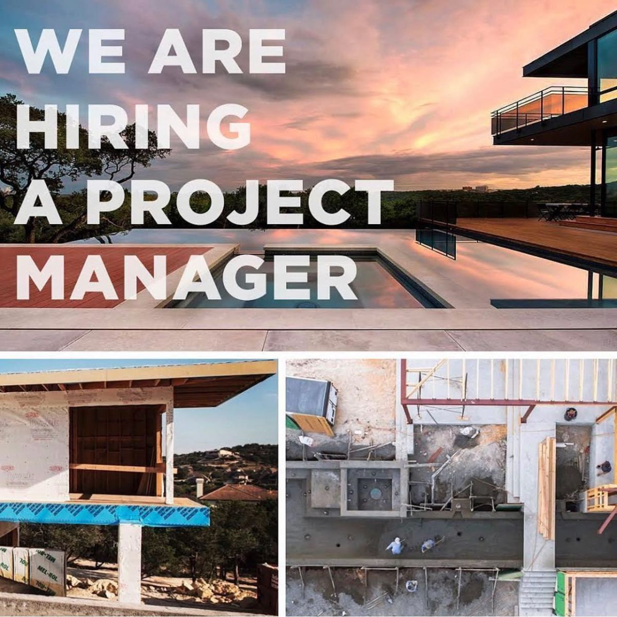 If you're a seasoned Project Manager or Superintendent then please give us a call. We have incredible projects to build and are looking for those who what to be a part of a team of professionals.