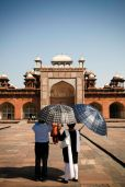 Tourists from around India mingle with international tourists in Agra.