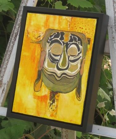 Matt Black Canvas Floater W: 3/4, H: 1 7/8