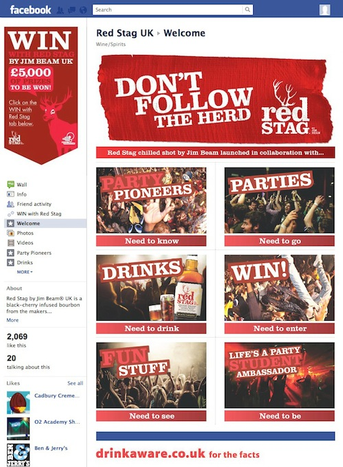 Jim Beam Red Stag Welcome Page