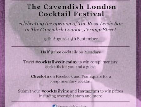 The Cavendish London Cocktail Festival