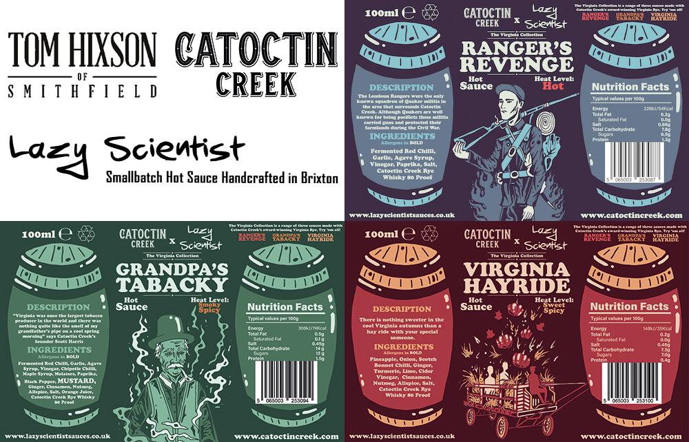 Virginia BBQ Box Labels