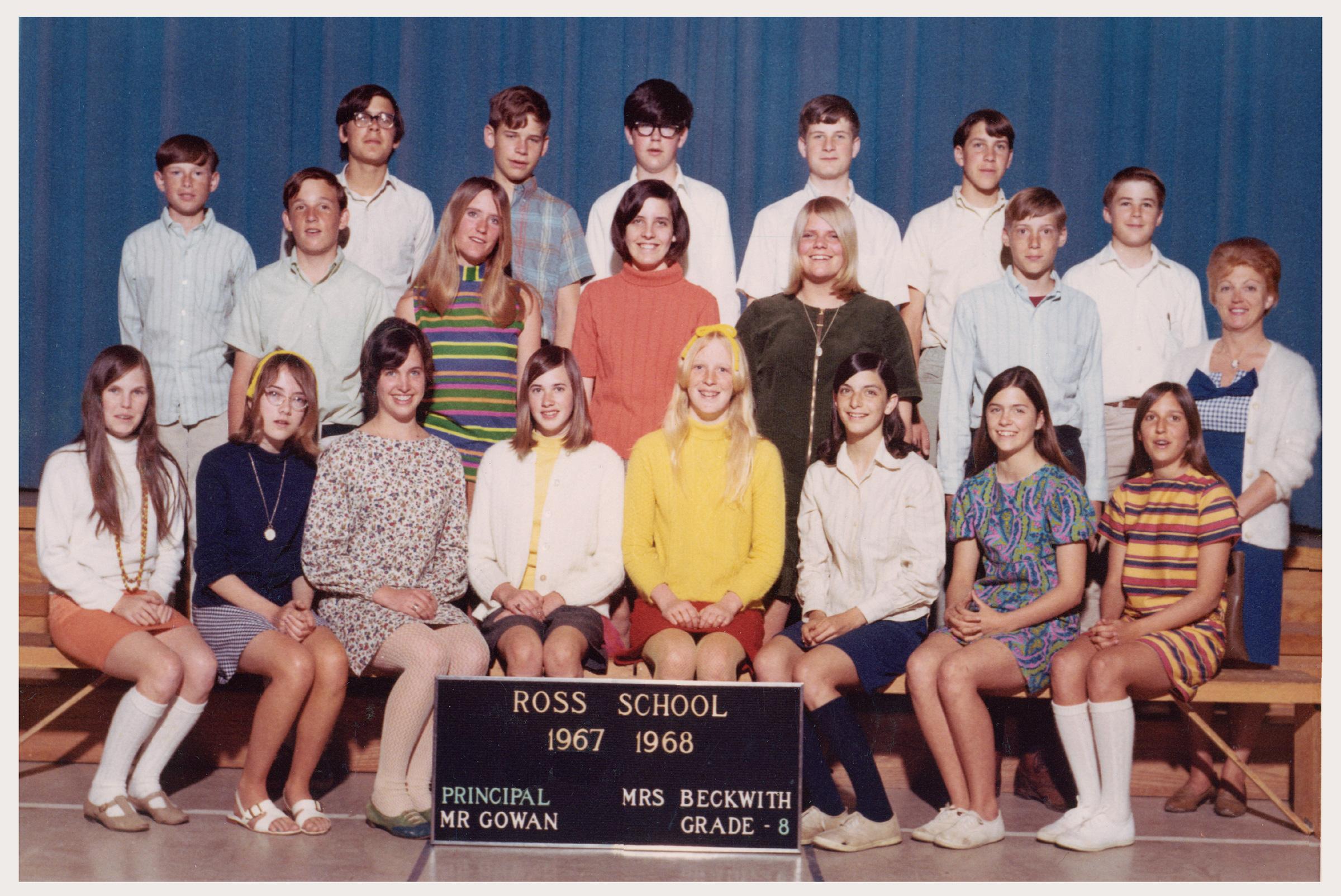 Ross School 8th Grade Class Picture (19671968), Mrs