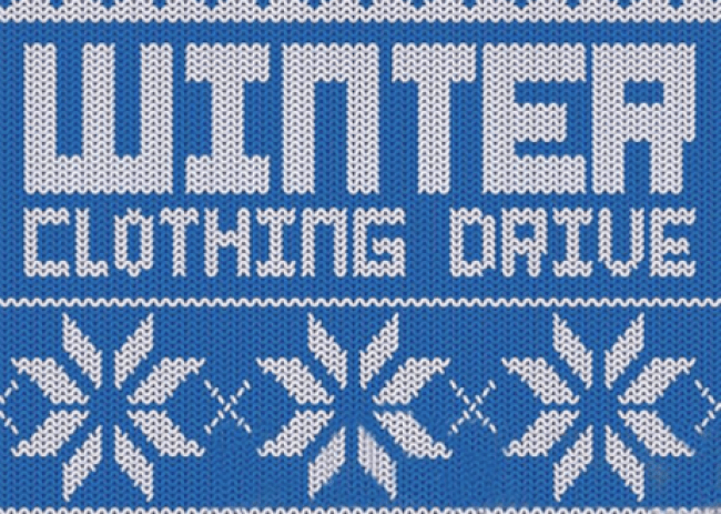 Winter Clothing Drive Promo Image Courtesy of PopCycle.
