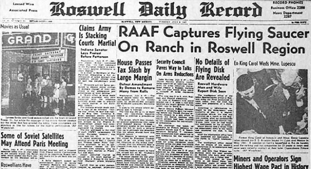 Roswell UFO Roswell Daily Record RAAF Capture Story