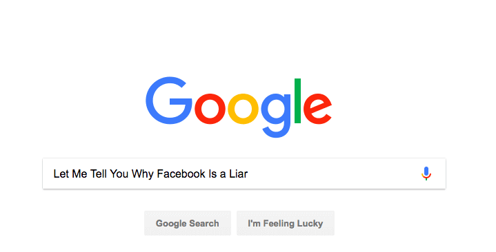 Big Data: Why the Facebook Feed Is a Liar According to Google
