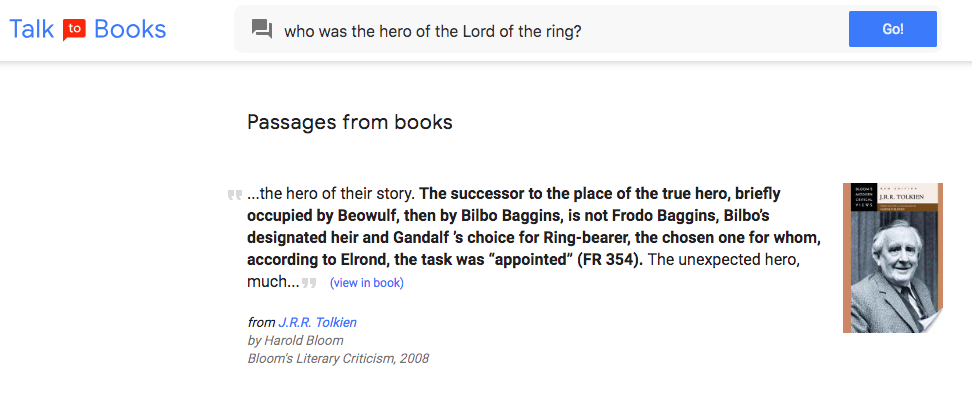 who was the hero of the lord of the ring?