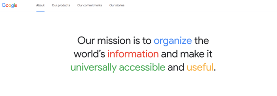 Google Mission Statement And Vision Statement In A Nutshell