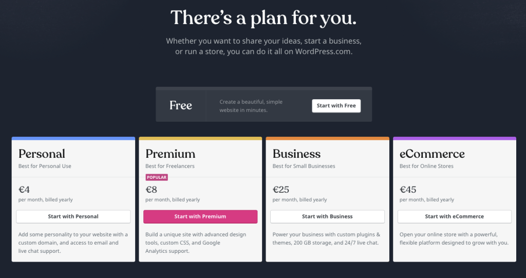 wordpress.com-plans