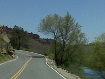 Climbing up Storage Reservoir dam