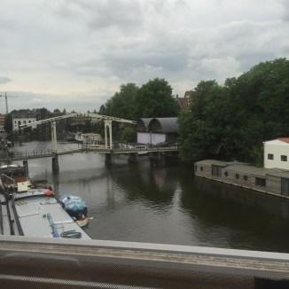 op de trein naar Rotterdam