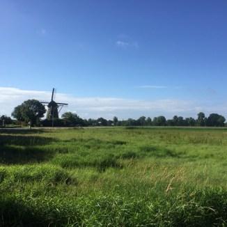 windmolen in de buurt van Laar, Duitsland