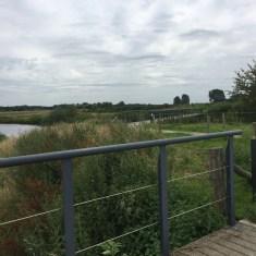 fiets bruggen in natuur gebied, Milsbeek, Limburg