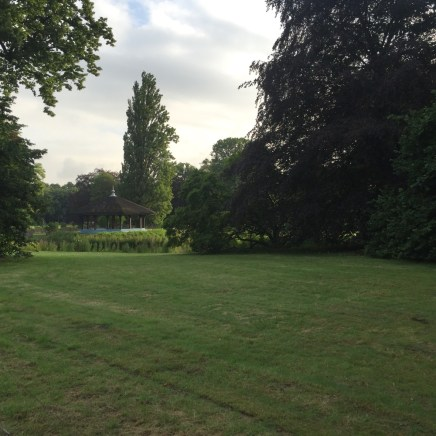 belvedère in park