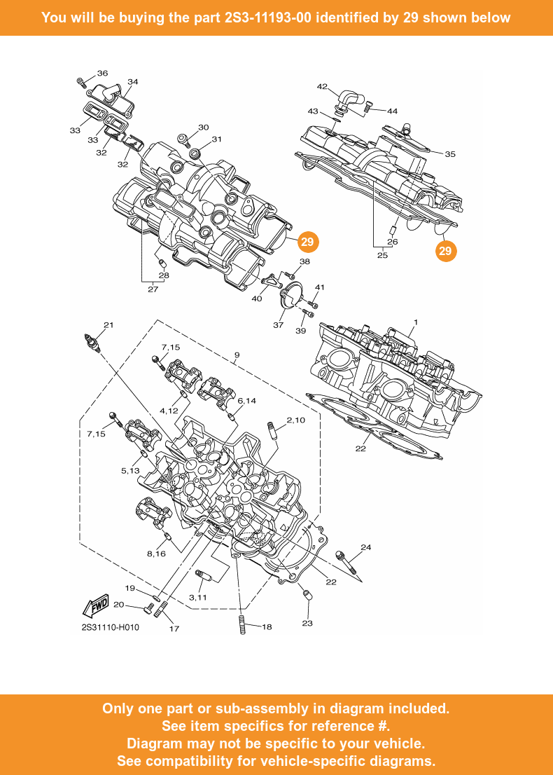 hight resolution of  29 on diagram only compatible with other bikes parts