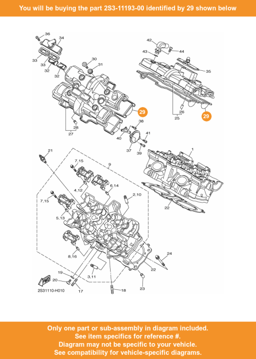 small resolution of  29 on diagram only compatible with other bikes parts