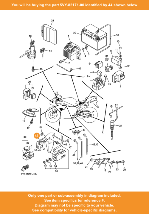 small resolution of  44 on diagram only compatible with other bikes parts