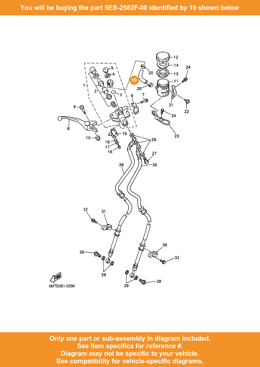 medium resolution of  19 on diagram only compatible with other bikes parts