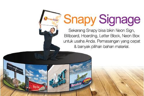 Produk dan Jasa Printing Digital Snapy