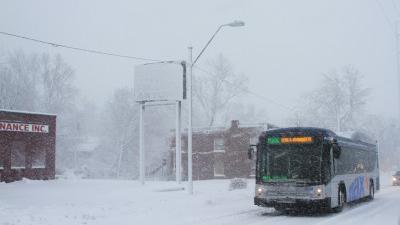 ATA bus in snow