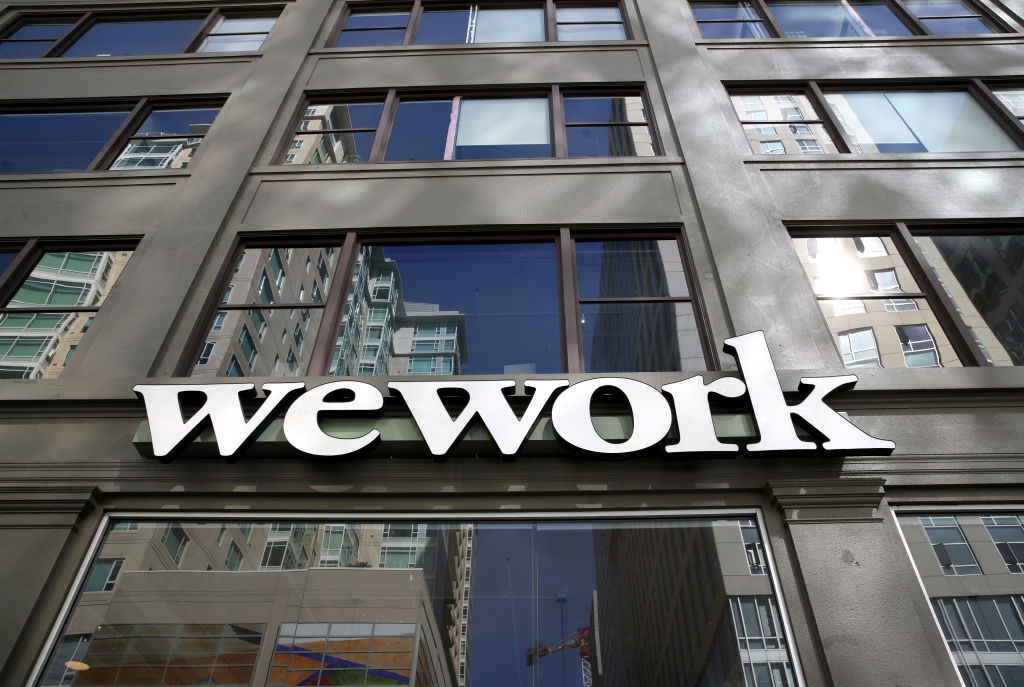 WeWork sign picture