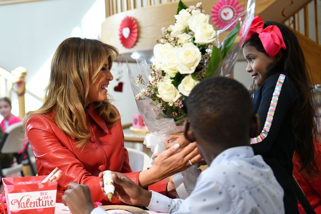 Picture of First Lady with sick kids