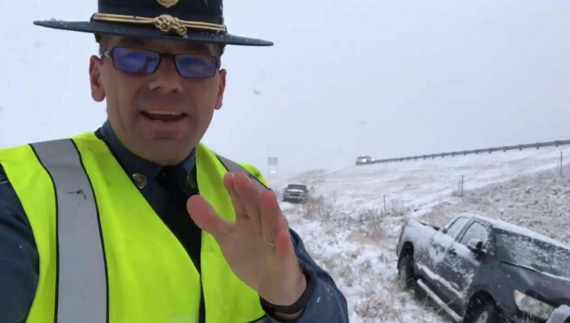 Trooper Ben snow northern Kansas