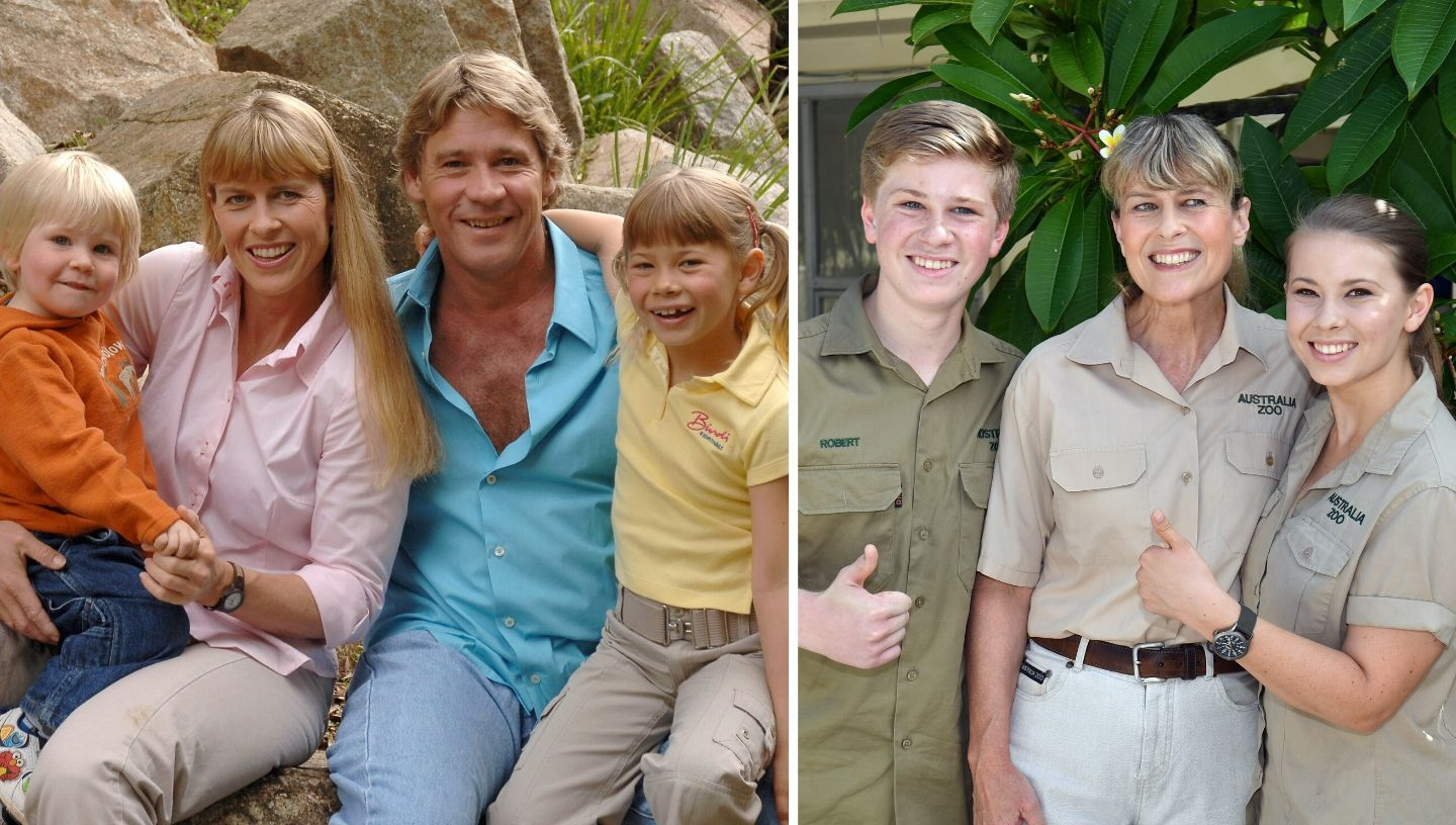 Irwin family before and after