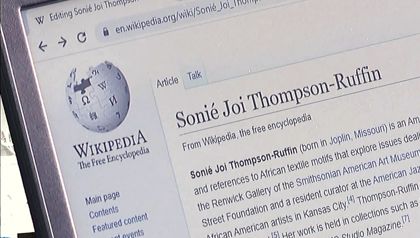 Picture of Wikipedia web page