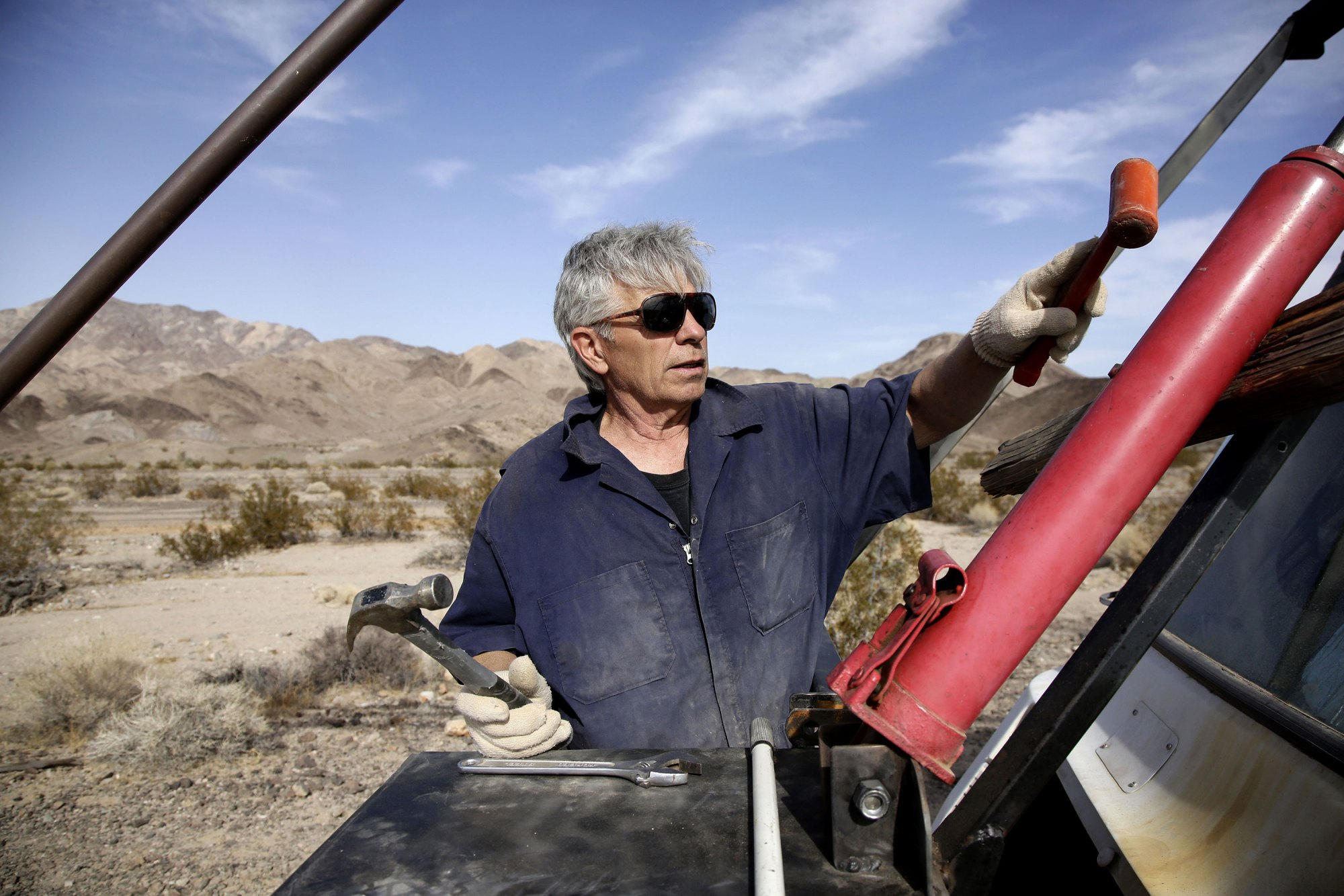 'Mad' Mike Hughes to launch home built, steam-powered rocket, Amboy, USA - 27 Nov 2017