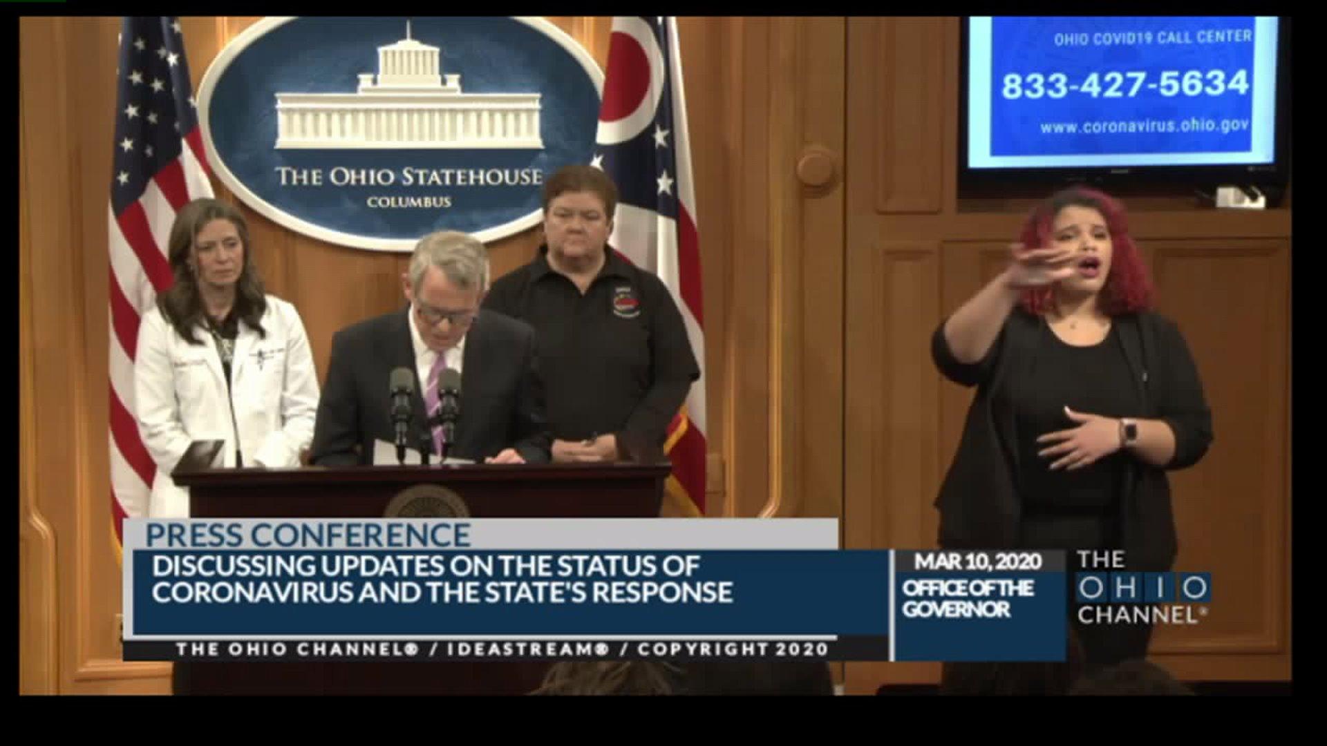 Gov. DeWine to give update on coronavirus in Ohio
