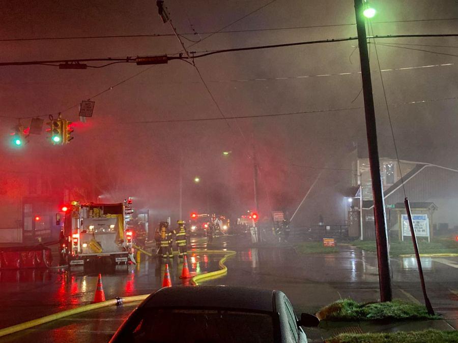 Jeromesville Fire Department: Blaze kills man. damages pub and auction house
