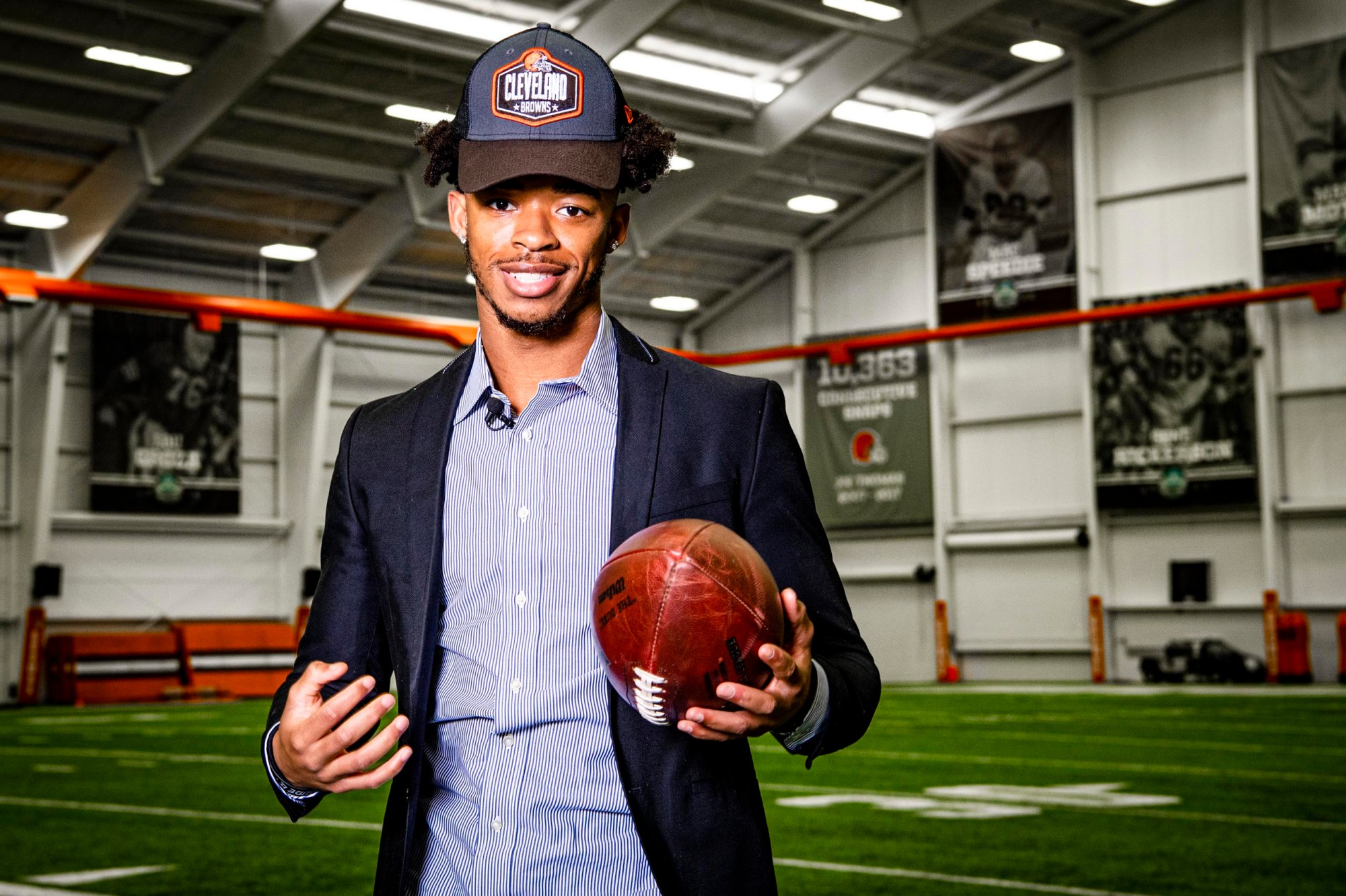 Browns 2021 First Round pick Greg Newsome II tours the Berea Facility on April 30, 2021.