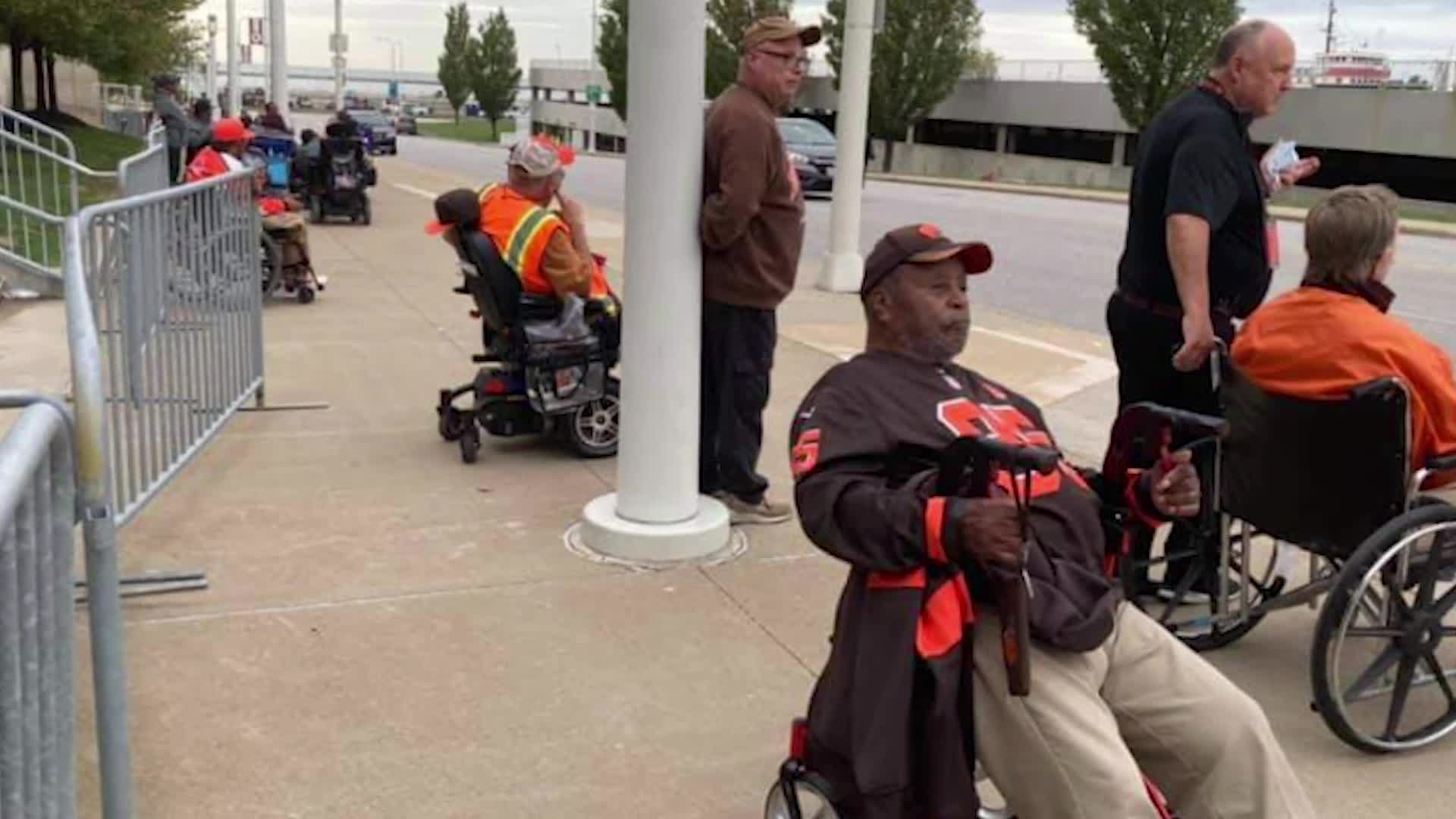 Browns fans with disabilities concerns