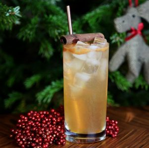 Rudolph Collins with sloe gin and gingerbread syrup