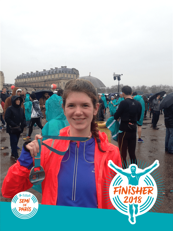 finisher du semi marathon de paris