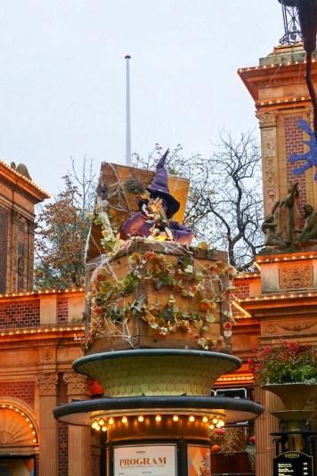 Ambiance d'Halloween aux jardins de Tivoli