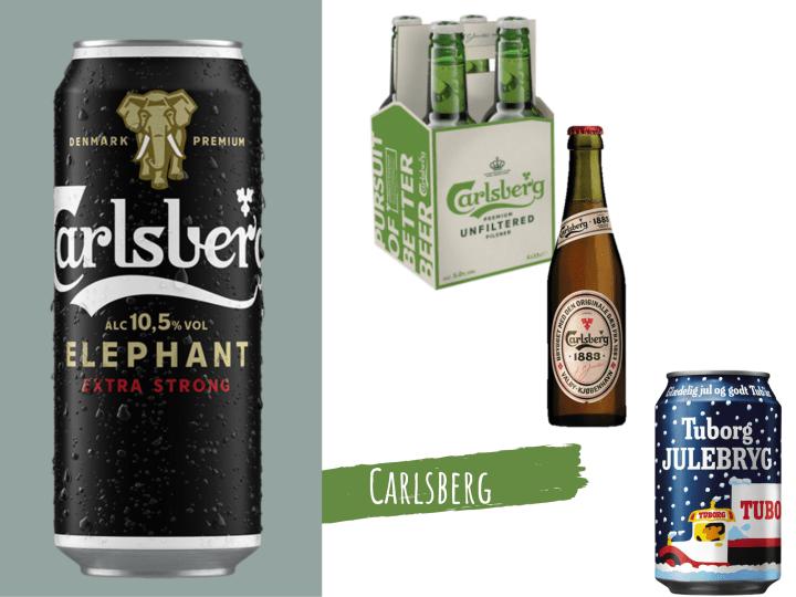 Groupe Carlsgerg, bières danoises