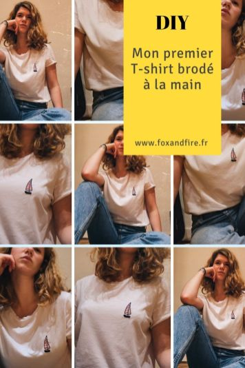DIY : T-shirt broderie personnalisée