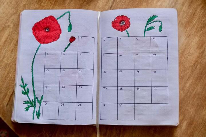 Monthly log juillet
